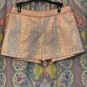 Pants - DejaVu Metallic and coral shorts